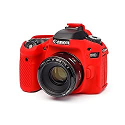 easyCover EA-ECC80DR Silicone Case for Canon 80D - Red