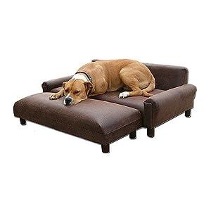 Max Comfort Bundle-77 BioMedic Modern Pet Sofa Bed Size: Medium, Fabric: Faux Leather - Charcoal