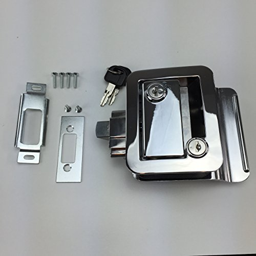 NEW RecPro CHROME RV CAMPER TRAILER MOTORHOME PADDLE ENTRY DOOR LOCK LATCH HANDLE KNOB DEADBOLT (Camper Door Entry Lock compare prices)