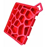 Make My Day Aqua Stone Silicone Ice Cube Tray, Red