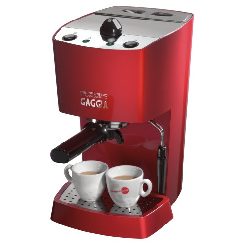Gaggia 102534 Espresso-Color Semi-Automatic Espresso Machine, Red images