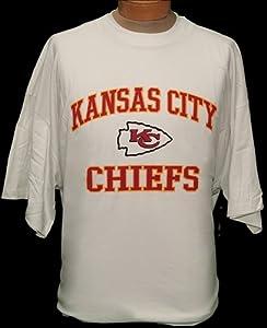 4XL NFL Kansas City Chiefs White Short Sleeve Screenprint T-shirt