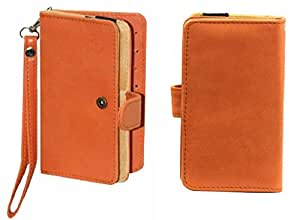 Jo Jo A9 Nillofer Leather Carry Case Cover Pouch Wallet Case For LG G5 Orange