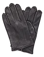 Leather Fleece Lined Plain Gloves
