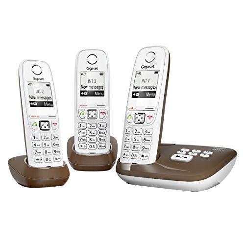 Gigaset AS405A Trio Téléphone sans Fil DECT/GAP avec Répondeur Chocolat