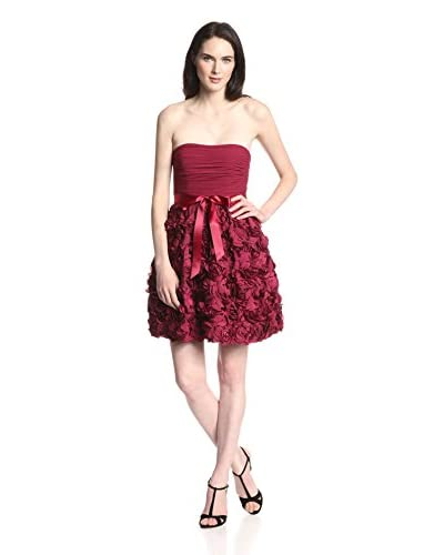 Aidan by Aidan Mattox Women's Strapless Floral Fit-and-Flare Dress