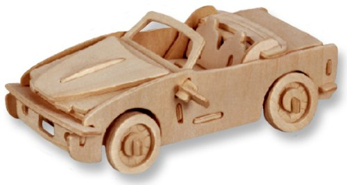 3-D Wooden Puzzle - Car Model B-740I -Affordable Gift for your Little One! Item #DCHI-WPZ-P067 - 1