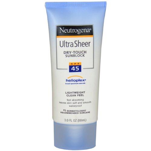 Neutrogena Ultra Sheer Dry-Touch Sunblock, SPF 45, 3 Ounces