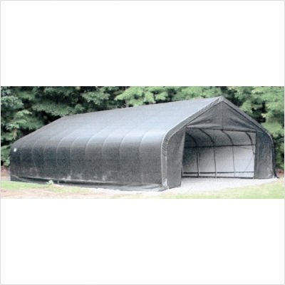 ShelterLogic 18ft.W Peak Style Instant Garage - 20ft.L x 18ft.W x 10ft.H, Model# 80043