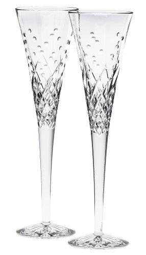 Waterford Happy Celebrations Crystal Flute Glasses, Set of 2