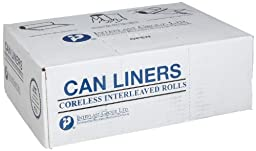 Inteplast Group S334017N HDPE 33 Gallon Can Liner, 0.66 Mil, Star Seal, 40\