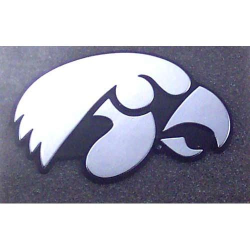 NCAA Iowa Hawkeyes Chrome Auto Emblem