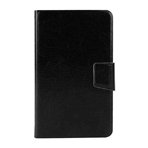 """Universal Kunstleder Schwarz Schutz-hülle Kartenfach Tasche Case Cover Etui Stand für 5,0""""-5,5"""" Zoll SmartPhone Handy wie CUBOT S222 5.5"""" ; DOOGEE KISSME DG580 5,5 Zoll; Xiaomi Redmi Note (Red Rice Note); 5.7 Zoll IPS HD Smartphone N9000 ; Alcatel Pop C9 ; ARCHOS 53 Platinum ; ARCHOS 53 Titanium; Blackview JK890 Smartphone; Cubot GT88 Smartphone; Hisense HS-U970E-8 5 Zoll; HTC Desire 816 Smartphone; LG G Pro Lite Smartphone 5,5 Zoll; Mobistel Cynus F8; SAMSUNG GALAXY NOTE 4; ZOPO ZP998; ZTE Nubi"""
