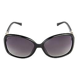Walnut Grey Round Frames Sunglass For Women