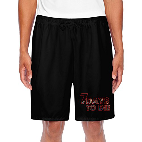 POY-SAIN 7 Days Letters Mans Boys Short Pants SizeM Black (7 Days To Die Steam compare prices)