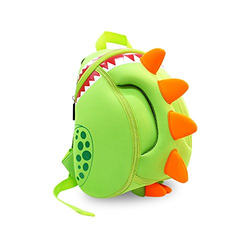 Coavas Kids Backpack Toddler Backpacks Dinosaur Backpack Children Backpack - Funny Dinosaur Cute Green(11.8*9.3*5.5 inch) - Gift For Toddlers and Children 3-8 years old Girls