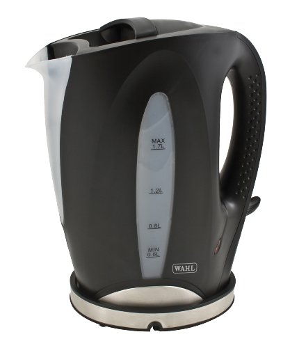 Wahl Cordless Kettle Black & Brushed Steel 2200 Watts 1.7 Litre capacity ZX701 by Wahl
