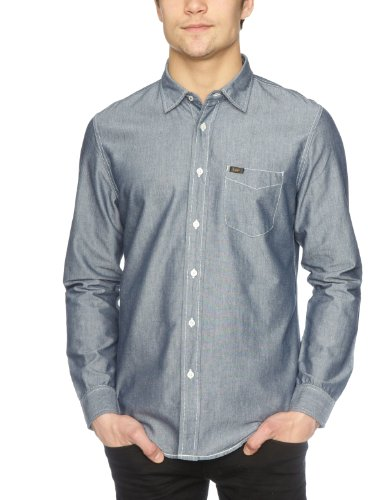 Lee 1 Pocket Reg Men's Shirt Blue Small