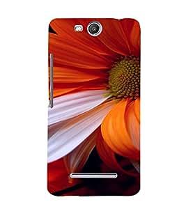 PrintVisa Flower Design 3D Hard Polycarbonate Designer Back Case Cover for Micromax Canvas Juice3 Q392