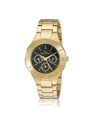 Lucien Piccard Men's LP-10051-YG-11 Gold-Tone/Black Stainless Steel Watch