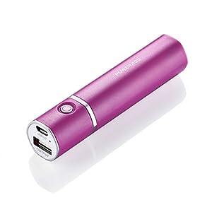 (パワーアド)Poweradd Ultra Slim2 3200mAhモバイルバッテリー 携帯用充電器 Mini超小型 iPhone6 / iPhone6s / iPhone5 / iPad / Xperia / Nexus スマホ通用(ローズレッド)