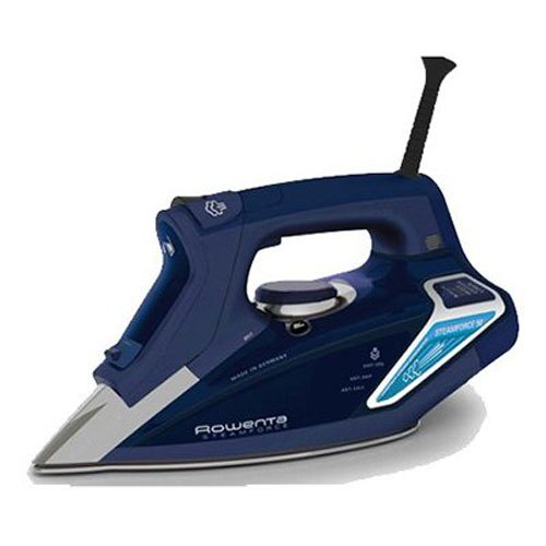 Rowenta DW9280 Steam Force 1800-Watt Professional Digital LED Display Iron with Stainless Steel Soleplate, 400-Hole, Blue (Best Rated Iron compare prices)