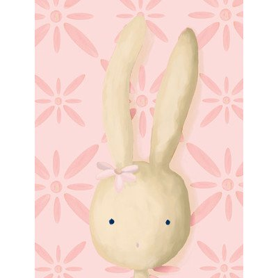 Oopsy Daisy Rae The Bunny Powder Pink Stretched Canvas Wall Art by Meghann O'hara