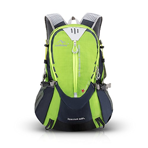 Hiking Backpack Sunhiker Sports Outdoor Cycling Backpack Bag Running Camping Backpack Water Resistant Lightweight SMALL Daypack 25L M441 (Green)