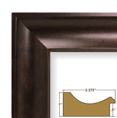 picture of 24x24 Craig Frames Picture Frame, Smooth Wood Grain Finish ...
