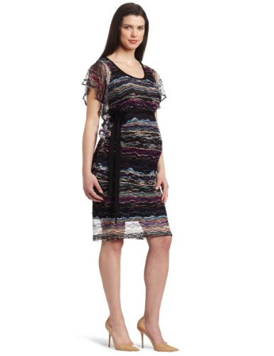 Jules & Jim Women's Maternity Flutter Sleeve Sweater Knit Dress