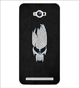 PrintDhaba Skull D-2217 Back Case Cover for ASUS ZENFONE MAX ZC550KL (Multi-Coloured)