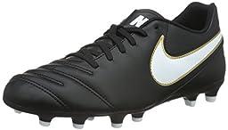 Men\'s Nike Tiempo Rio III FG Soccer Cleat Black/White Size 7.5 M US
