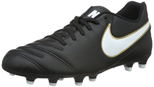 Nike Tiempo Rio Iii Fg, Scarpe da Calcio Uomo, Nero (Black/White-Metallic Goldblack/White-Metallic Gold), 44 EU