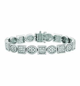 14 Karat White Gold bracelet Enhanced With Briliant Near Colorless Diamonds. (GH-Color SI2-Clarity 3.42-Carat)