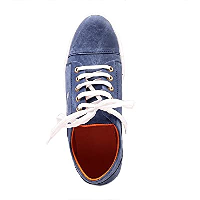 Alestino Mens Blue Casual Sneakers Shoes