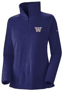 NCAA Columbia Washington Huskies Ladies Glacial Fleece Half Zip Sweatshirt - Purple by Columbia