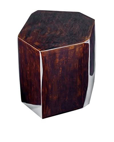 Home Philosophy Small Geo Drum Table, Espresso Brown