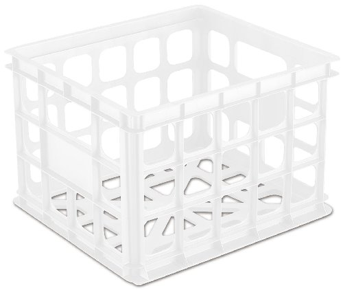 Sterilite 16928006 Storage Crate, White, 6-Pack (Sterilite Modular System compare prices)