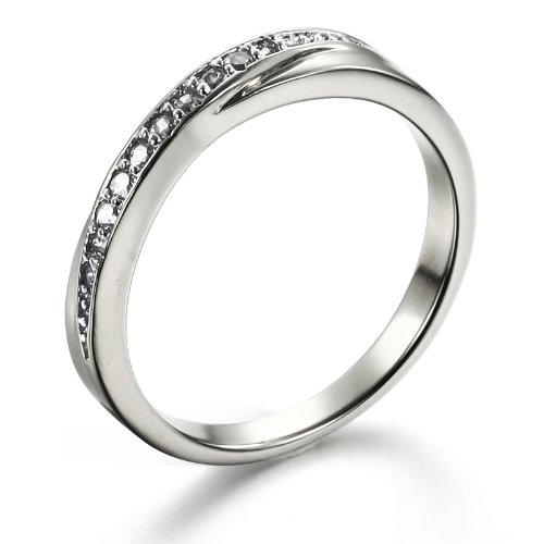 Opk Jewellery Fashion Women's Ring CZ Rhinestone Platinum Plated Silver White Gold Finger Band Wedding Rings New Style