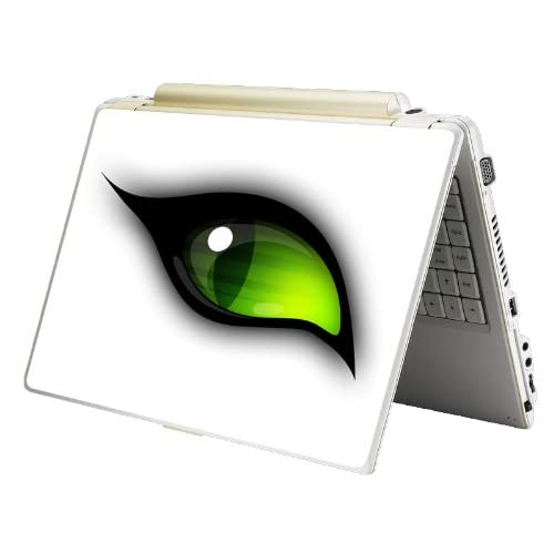 Bundle Monster Laptop Notebook Skin Sticker Cover Art Decal   12 14 15   Fit HP Dell Asus Compaq   Green Eye