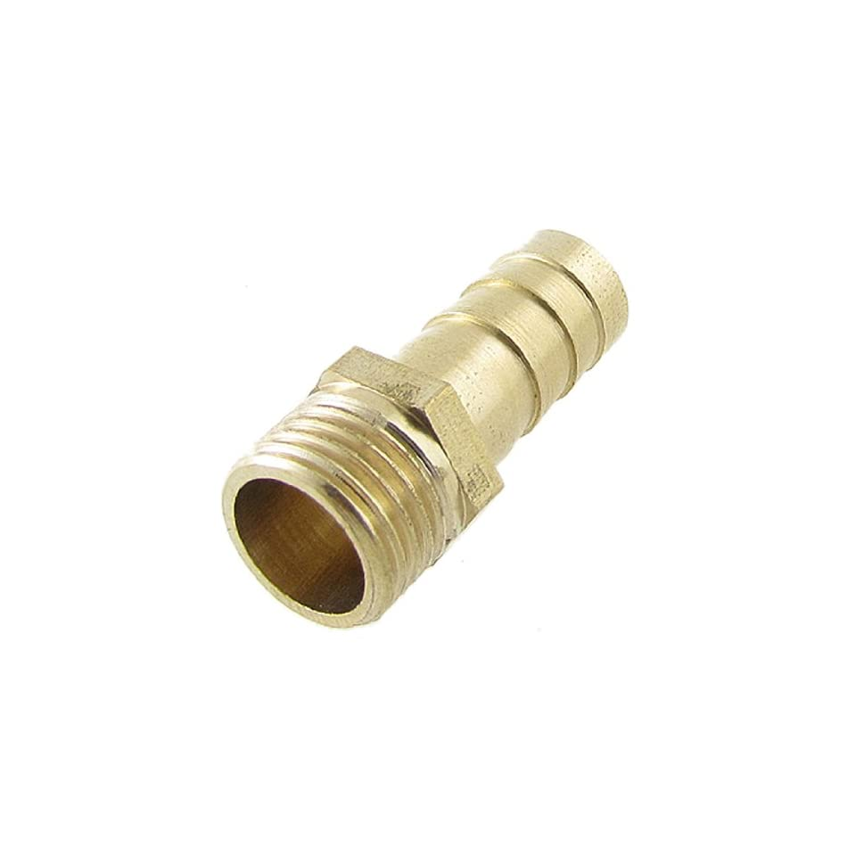 Brass 1/2 Male Thread 2/5 Air Water Fuel Hose Barbed Fitting Adapter