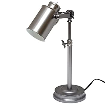 Light Accents Desk Lamp Antique Style Metal, Desk Light (Aged Pewter)