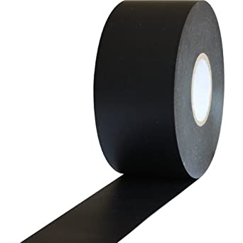 "ProTapes Pro 603 Rubber Pipe Wrap Tape with PVC Backing, 10 mil Thick, 100' Length x 2"" Width, Black (Pack of 24)"