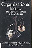 img - for Organizational Justice: The Search for Fairness in the Workplace (Issues in Organization and Management Series) by Blair H. Sheppard (1992-07-01) book / textbook / text book