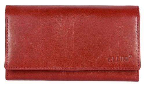 Portafoglio donna Ellini rosso in vera pelle versione clutch