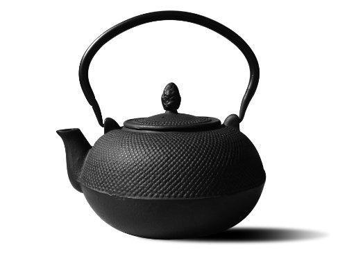 Old Dutch Cast Iron Hakone Teapot/Wood Stove Humidifier, 3-Liter, Matte Black