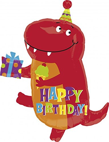 Anagram International 2679001 Birthday-Saurus Junior Shop Balloon Pack, 27""