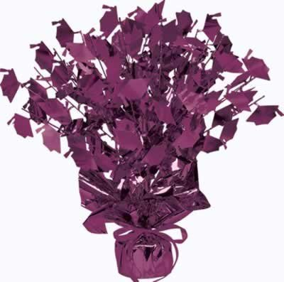 Graduate Cap Gleam 'N Burst Centerpiece (purple) Party Accessory  (1 count) (1/Pkg)
