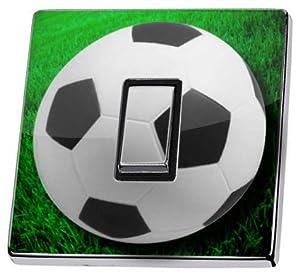 Football Light Switch Sticker green soccer game ball vinyl decal cover skin decal