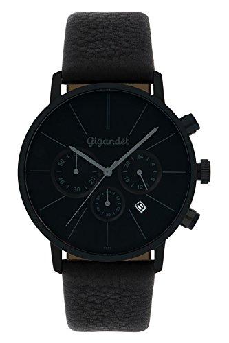 Gigandet-Quarz-Herren-Armbanduhr-Minimalism-Chronograph-Uhr-Datum-Analog-Lederarmband-Schwarz-G32-004